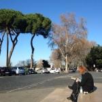 Joan Richmond, painting en plein air in Rome